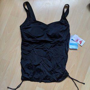 Black Plus Size Tankini Top - Size 14